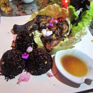 Roasted Chicken with Forbidden Black Rice