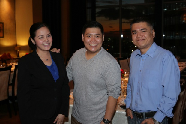 With Ms. Celine Arenillo, Director of Marketing Communications for Discovery Suites, and Mr. Gerry San Miguel, www.dude4food.blogspot.com