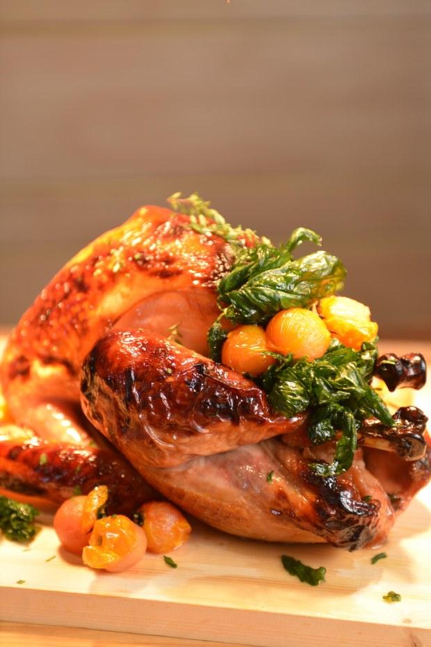 Apple-Brined Roast Turkey