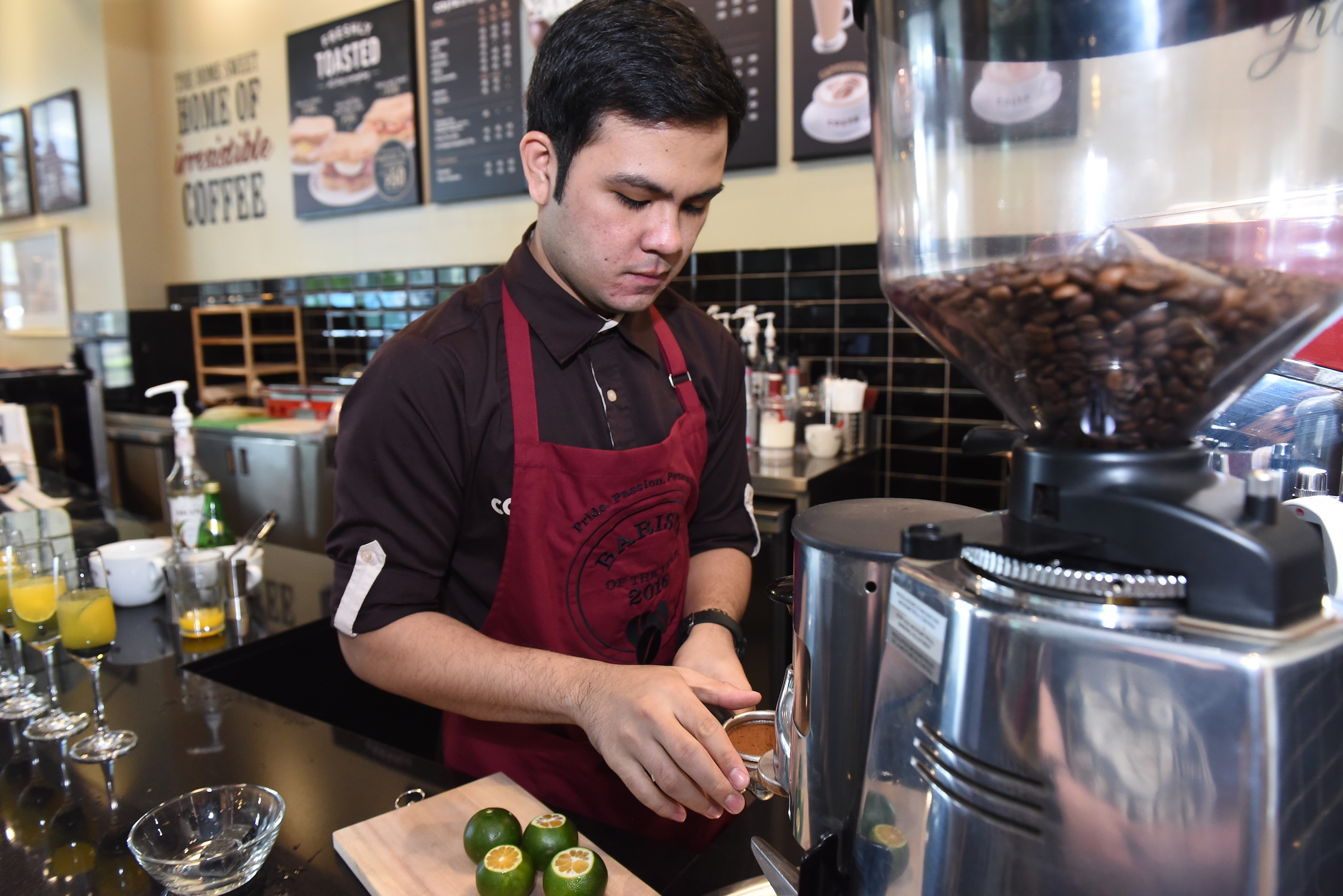 Costa Coffee's Southeast Asia and India representative is Filipino Justin Dela Fuente.JPG