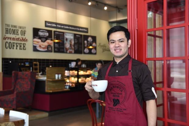 Costa Coffee's Southeast Asia and India representative is Filipino Justin Dela Fuente.JPG