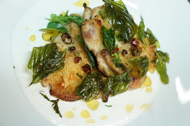 A manually deboned chicken was the star of this dish.JPG
