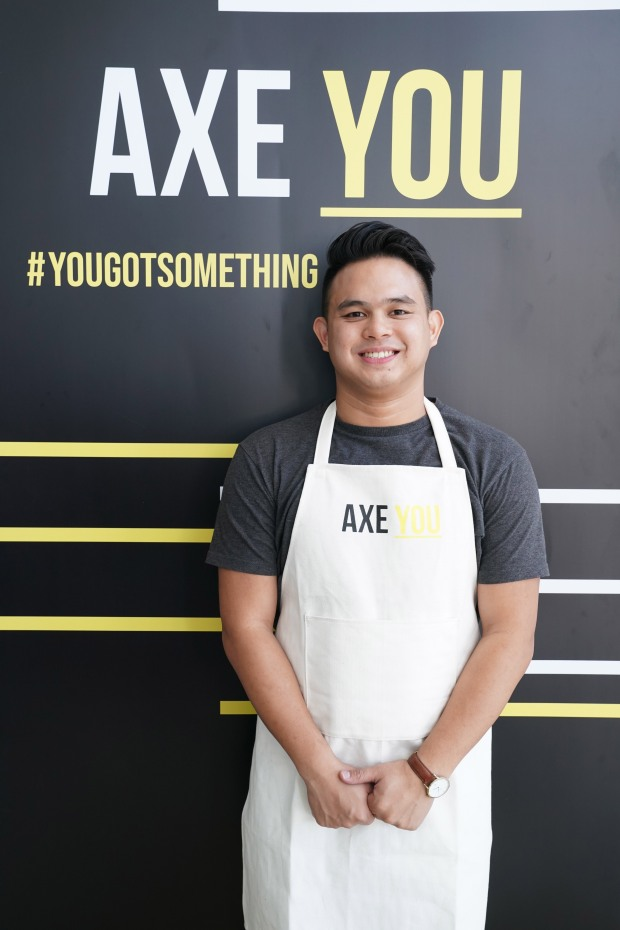 The winner of the Axe You Masterclass with Chef Nicco Santos, Kit Gerona.JPG