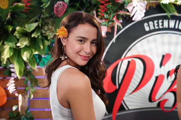 Beach babe, Yassi celebrating her birthday luau.JPG