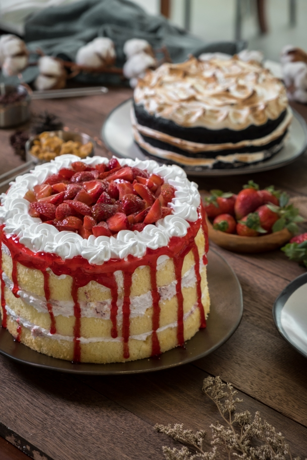 Cravings strawberry Shortcake and Naked Devil's Foodcake.jpg