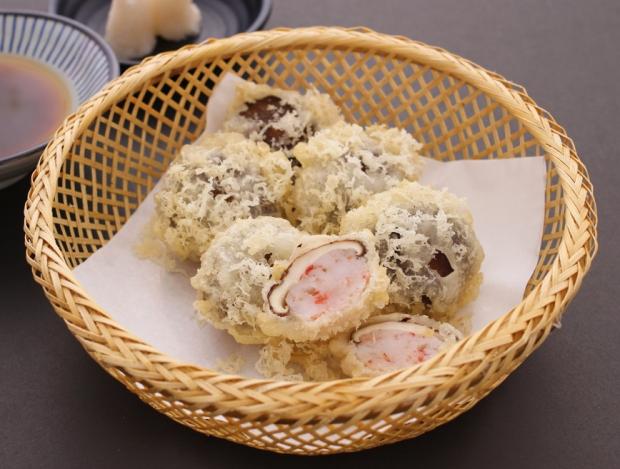 Ogetsu Hime ebi shiitake tempura.jpg