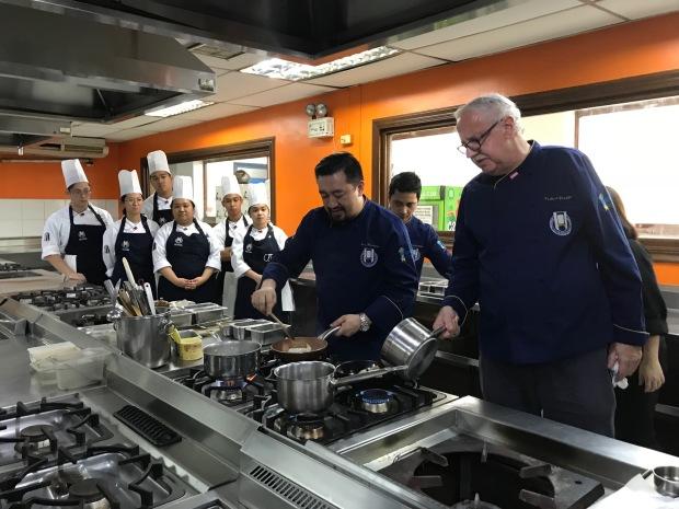 Chefs Joey Herrera and Norbert Gandler during the cooking demo (1).jpg